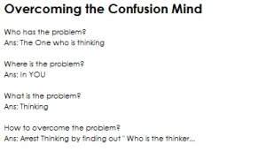 Overcome the confusion (Mind)